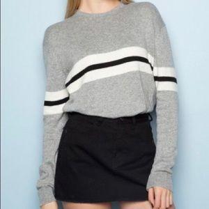 BRANDY MELVILLE Bernadette grey striped sweater
